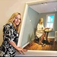 Rowling with portrait