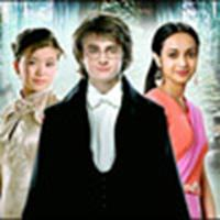 Cho, Harry & Parvati at the Yule Ball