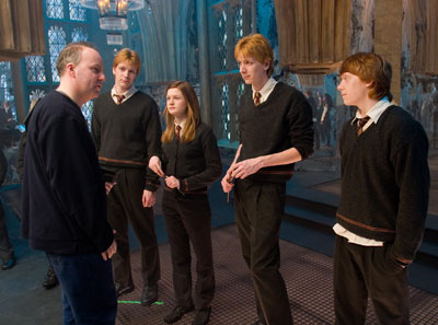 David Yates with the Weasley siblings