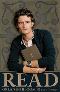 Orlando Bloom READ campaign by the ALA